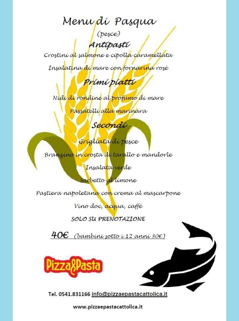 menu pranzo pasqua pesce